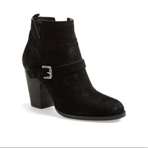 Ivanka Trump 'Frankly' Suede Belted Round Toe Bootie, size 8